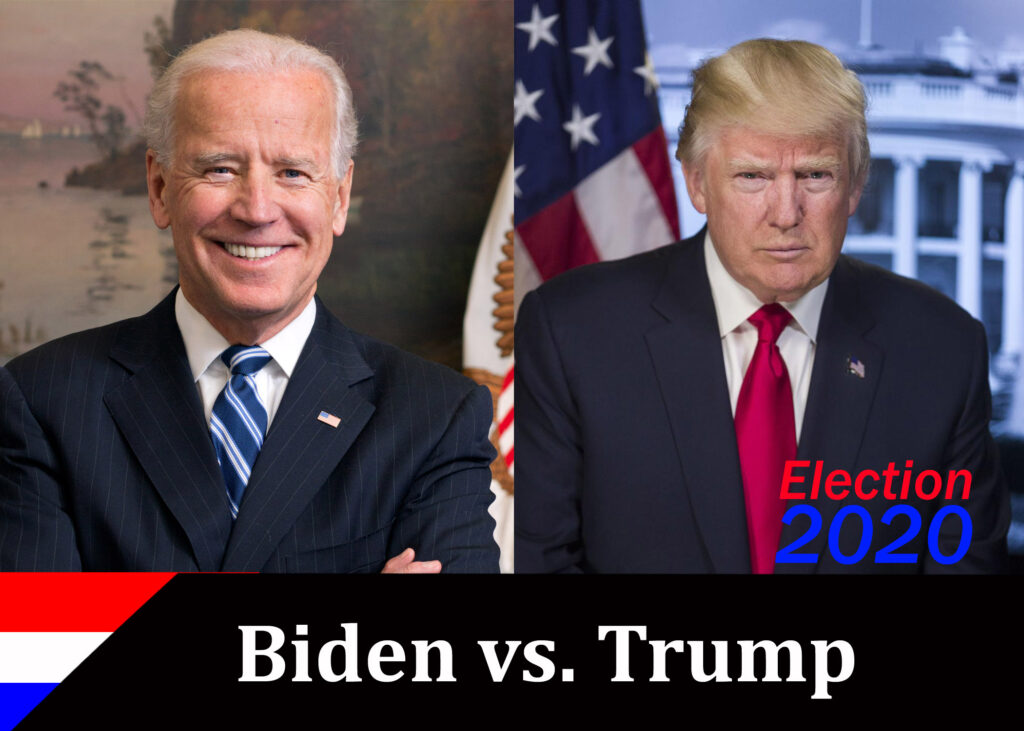 biden vs trump trading card